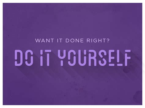 Do It Yourself By Mike Mangigian  Dribbble