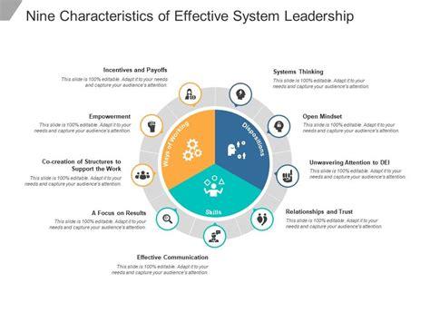 characteristics  effective system leadership
