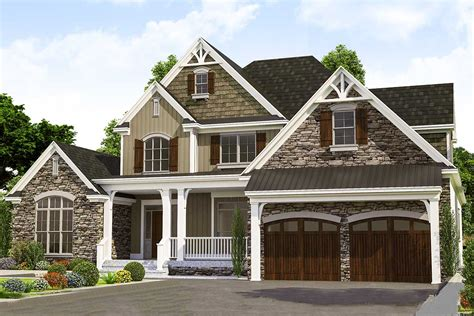 story country home plan  optional bonus room  garage  architectural