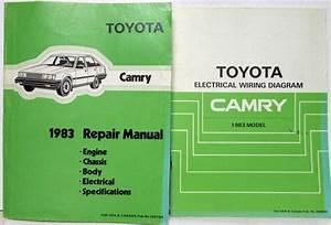 1983 Toyota Camry Service Shop Repair Manual  U0026 Electrical