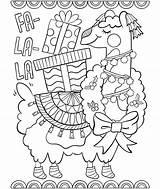 Llama Coloring La Fa Pages Printable Print Getcolorings sketch template