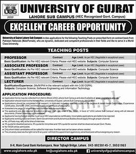 University of Gujrat (Lahore Campus) Jobs 2017 Available ...