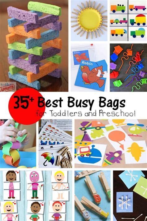 busy bags  toddlers preschool pinlaviecom