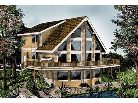 Indian Grove Rustic A-frame Home Plan 015d-0107