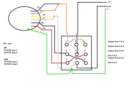 7 Wire Diagram by 3 Phase 240v Motor Wiring Diagram Volovets Info