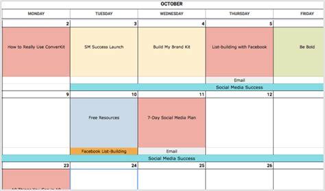 create social media calendar template marketers