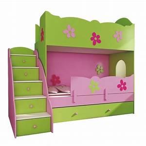 Lit Superposé Escalier : lit superpos classique 180x90 cm escaliers lits ~ Premium-room.com Idées de Décoration