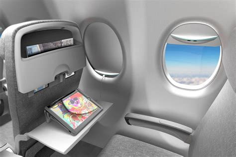 Interior Aircraft Design by Solar Powered Window Shades To Charge Aircraft Passenger