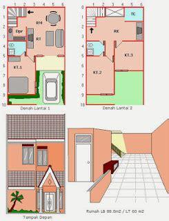 desain rumah minimalis ukuran tanah