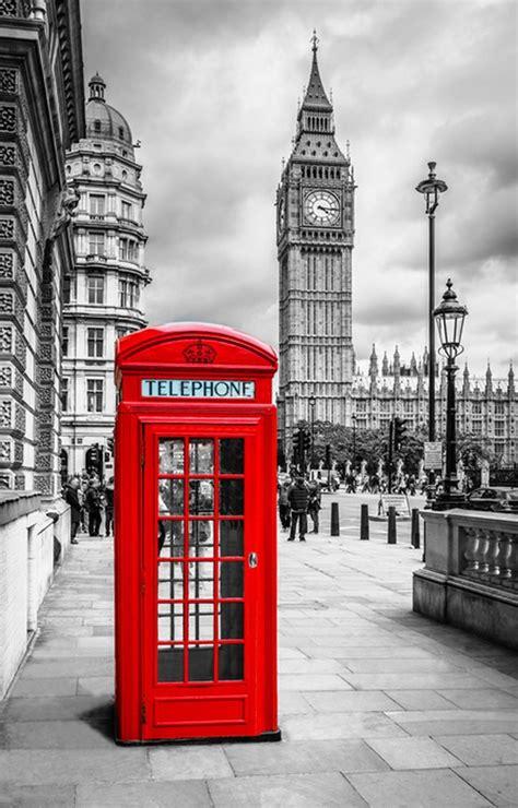 red london phone box wall mural wallpaper