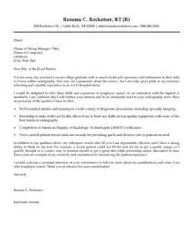 radiology technician cover letter