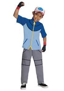 Deluxe Pokemon Ash Child Halloween Costume, Boy's, Size: Large, Blue