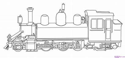 Train Coloring Printable Steam Adults Draw Simple