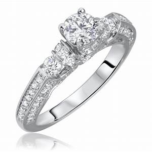 White gold wedding ring sets white gold for Ladies diamond wedding ring sets
