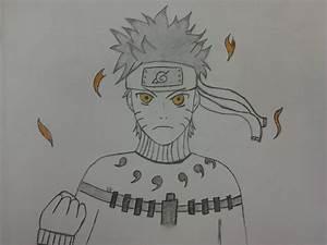 Naruto Shippuden Nine Tailed Fox Mode Drawing