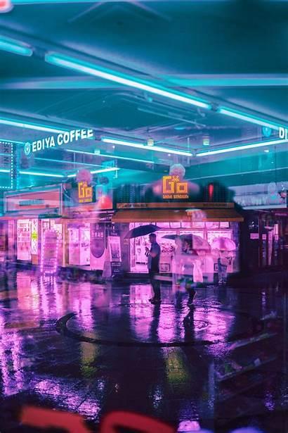Iphone Seoul Cyberpunk Aesthetic Unsplash Street Neon