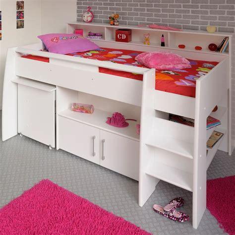 Kinderzimmer Mädchen Stauraum by Hochbett In Wei 223 Mit Schreibtisch Swanny Wohnen De