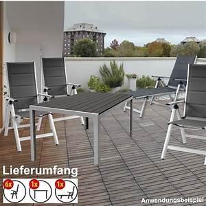 Gartenmöbel Set Grau : gartenm bel set 8 teilig comfort alugestell silber grau ~ Whattoseeinmadrid.com Haus und Dekorationen