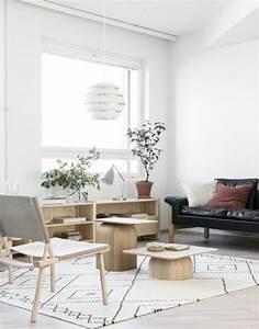 Ensemble Salon Scandinave : le tapis scandinave 100 id es partout dans la maison ~ Teatrodelosmanantiales.com Idées de Décoration