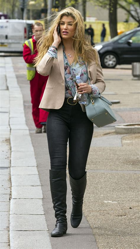 amy willerton casual style leaving  itv london