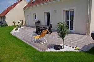 terrasse bois et gravier sol exterieur pinterest With plan pour terrasse exterieur