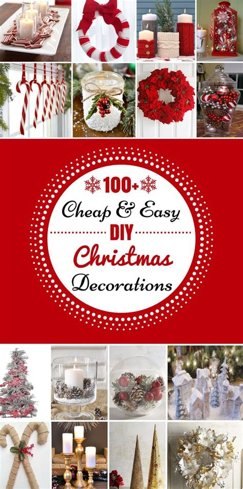 cheap christmas decorations ideas  pinterest