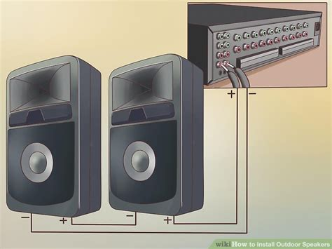 3 ways to install outdoor speakers wikihow