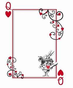 alice in wonderland templates alice in wonderland With alice in wonderland card soldiers template