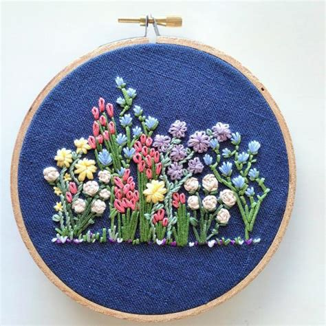 hand embroidery pattern flower embroidery hoop pattern