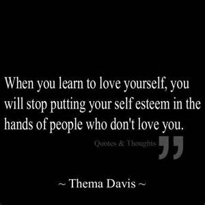 Love Yourself Self-Esteem Quote