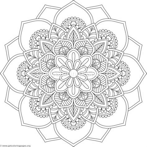 flower mandala coloring pages  getcoloringpagesorg