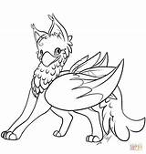 Griffin Coloring Cute Gryphon Pages Printable Cartoon Griffon Lines Drawing Deviantart Paint Pf Animals Dragon Numbers Potter Harry Coloriage Drawings sketch template