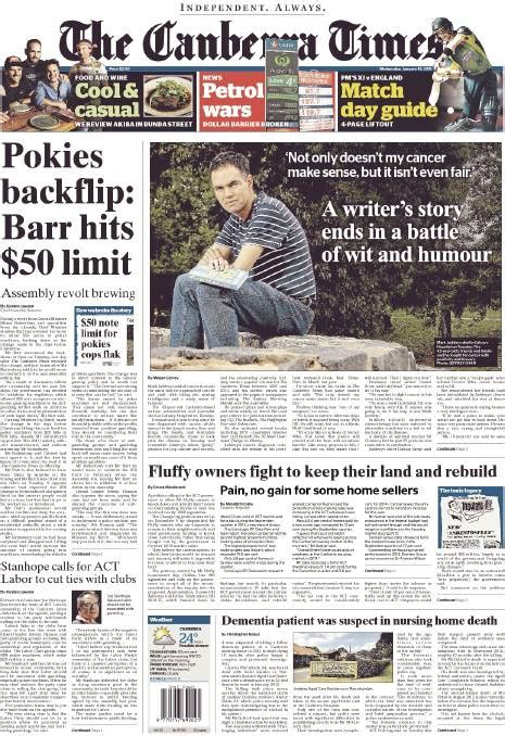 fairfax front pages wednesday january   redland