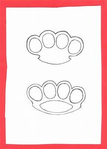 Weaponcollector39s knuckle duster and weapon blog brass for Brass knuckles template