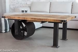 Roue Industrielle Pour Table Basse : roue porte coulissante le bois chez vous ~ Nature-et-papiers.com Idées de Décoration