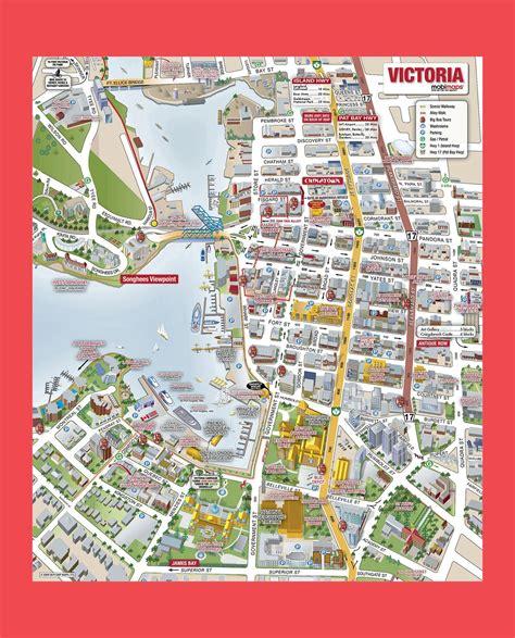 victoria city tourist mapjpg  seattle