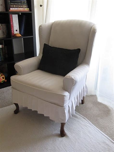 slipcover for wingback chair my wing chair slipcover reveal