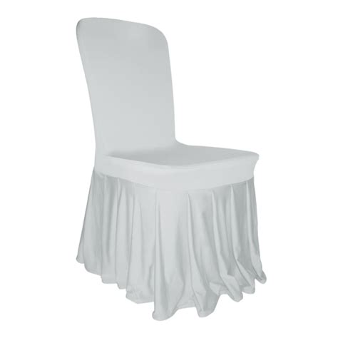 pleated skirt chair cover lycra spandex wedding