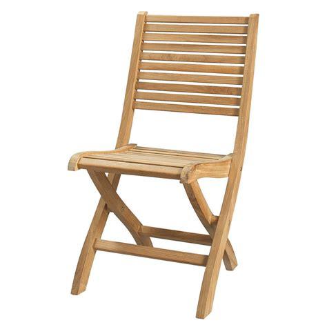 chaises en teck chaise pliante de jardin en teck massif olé maisons