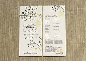how to create a wedding program With describe the wedding ceremony