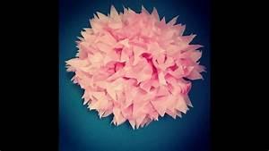 Fleur En Papier De Soie : fleur en papier de soie youtube ~ Nature-et-papiers.com Idées de Décoration