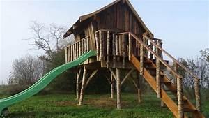 Cabane En Bois Enfant : tuto pour la fabrication d 39 une cabane en bois sur pilotis ~ Dailycaller-alerts.com Idées de Décoration