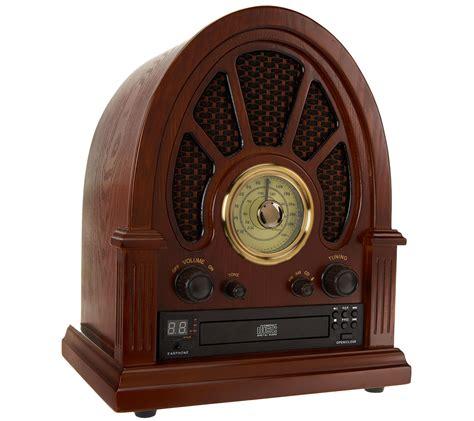 Vintage Wooden Radio with CD Player, AM/FM Radio