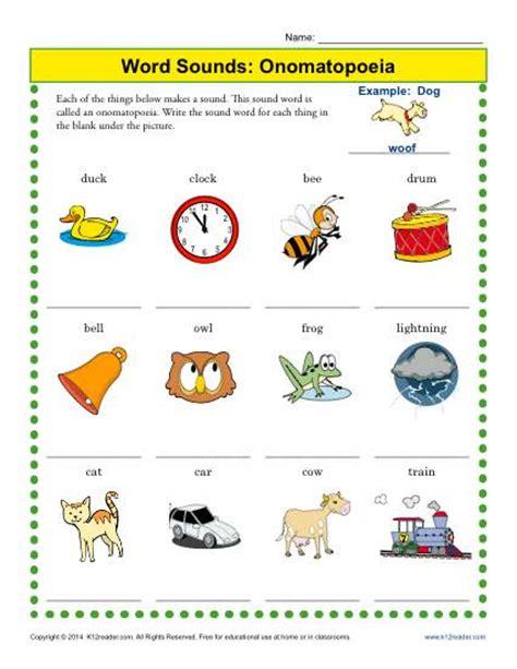 onomatopoeia worksheets for grade worksheets for all