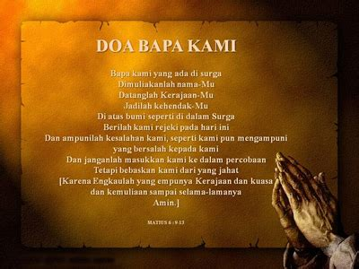 tuhan ajar  berdoa doa bapa  khotbah