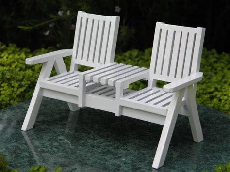 miniature dollhouse garden furniture white wood