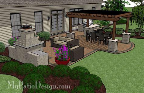 Backyard Layouts Ideas by Large Unique Pergola Fireplace Patio Tinkerturf
