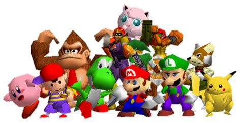 Smash Bros Melee Wallpaper All Super Smash Bros 64 Characters By Ianmcracoon2000 On Deviantart