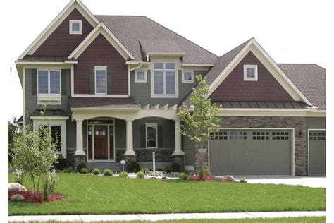 house plans with portico portico porch hwbdo67196 craftsman from builderhouseplans