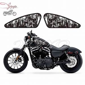 Motorcycle Custom Skull Flame Design Fuel Tank Decals ...